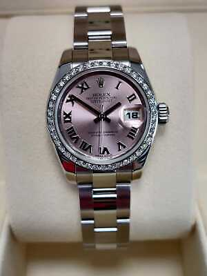 $ CDN9400.76 • Buy Rolex Lady-Datejust 26mm 179160 Pink Dial  2013 Box And Papers (80)