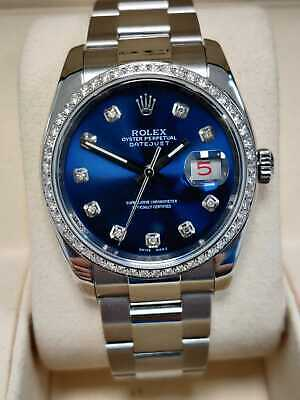 $ CDN11062.71 • Buy Rolex Datejust 116200 Blue Dial 2007 Box And Papers (87)