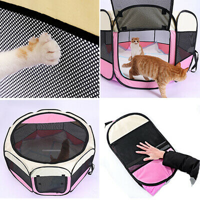 £19.99 • Buy Folding Fabric Dog Crate Cat Kitten Cage Pet Travel Carrier Puppy Play Pen Tent