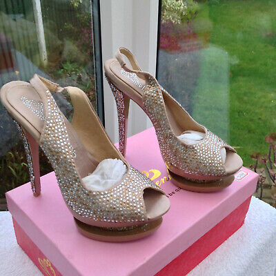 £8 • Buy Bqueen Gold/bronze Strappy Platform Shoes Size Sizes 38 & 39 Uk 5 & 6