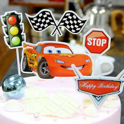 5pcsCARS MCQUEEN ANIMALS ASTRONAUT BOY/GIRL BIRTHDAY CAKE TOPPERS Decoration UK  • 1.75£