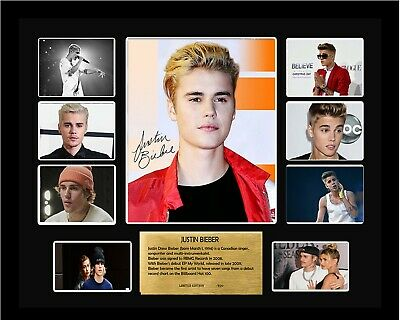 AU99.99 • Buy New Justin Bieber Signed Limited Edition Framed Memorabila Comes With Col