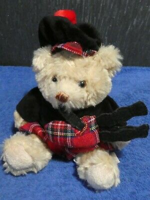 £7.50 • Buy Scottish Teddy Bear In A Kilt Top And Hat With Bag Pipes From Keel Toys