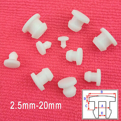 AU19.75 • Buy Snap-on Hole Plugs 2.5-20mm Silicone Rubber Stopper Blanking Pipe End Caps White