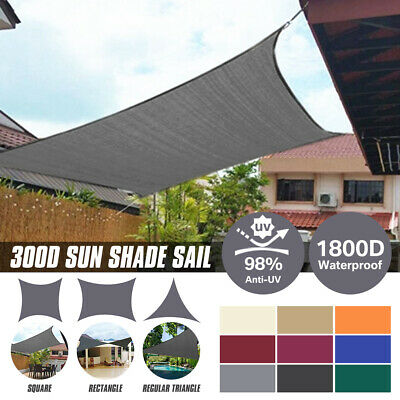 AU28.09 • Buy Sun Shade Sail Cloth Awning Shadecloth Canopy Garden Triangle Rectangle 280gsm