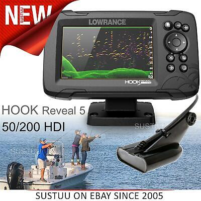 £322.31 • Buy Lowrance Hook Reveal 5 CHIRP Fishfinder/ Chartplotter & 50/200 HDI Transducer