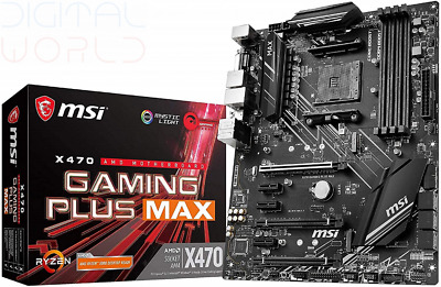 AU241.70 • Buy MSI X470 GAMING PLUS MAX Motherboard ATX, AM4, DDR4, LAN, USB 3.2 Gen2,...