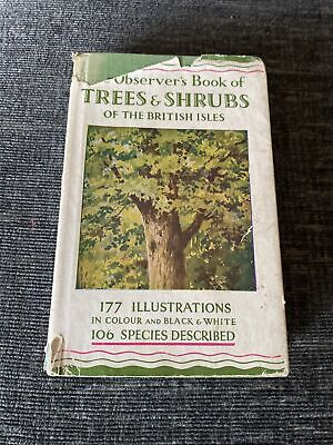 £6.99 • Buy The Observer's Book Of Trees & Shrubs Of The British Isles - No Date 1st?
