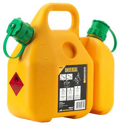 £35 • Buy 577616412 Orig. McCulloch Combi Can 6L - Fuel Petrol Canister And 2,5L Oil Tank