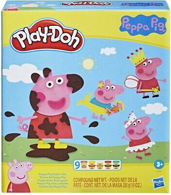 £16.89 • Buy PlayDoh Peppa Pig Stylin Set Assorted Colours Modeling Compound Mold Shape Cut