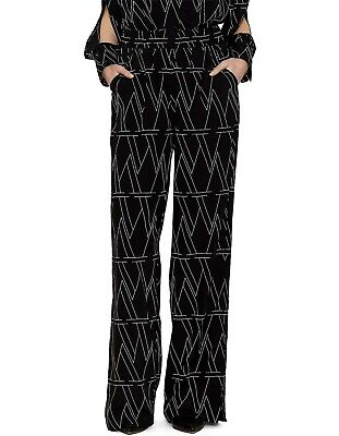 AU99 • Buy NWT $320 VIKTORIA & WOODS The W Print Sequence Split Pants / Sz 0 / AU 6 8
