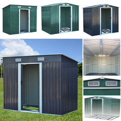 £279.95 • Buy Metal Garden Shed 4 X 6, 6 X 8, 8 X 8, 10 X 8 Ft Storage With Base Frame Sheds