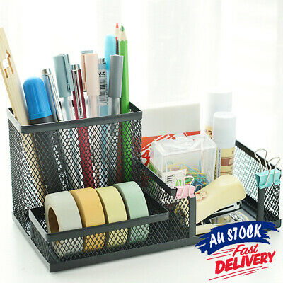 AU14.15 • Buy Desk Organizer Pen Holder Storage Container Stationery Office School Letter Tray