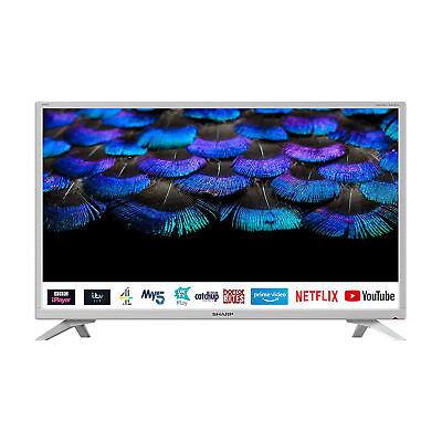 £219.95 • Buy Sharp 1T-C32BC2KH2FW 32  Inch HD Ready Smart LED TV With Freeview HD - White