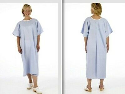 £6.76 • Buy Pullover Blue Examination X-ray NHS Hospital Gown Open Back No Ties/fastenings