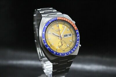 $ CDN1152.48 • Buy Vintage Seiko Chronograph Automatic 6139-6002 POGUE Yellow No Mark 17j Dial