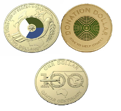 AU14.95 • Buy 2020 $2 End Of WW2, $1 Qantas And A $1 Donation Dollar - 3 Coins UNC