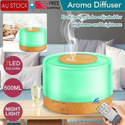 AU23.95 • Buy Ultrasonic 500 Ml Aroma Diffuser Aromatherapy LED Essential Oil Air Humidifier