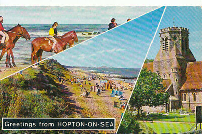 Norfolk Postcard - Greetings From Hopton-on-Sea - Ref TZ4601 • 2.50£