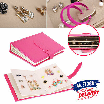AU15.35 • Buy Gift Case Necklace Storage Book Holder Earring Creative Jewelry Box Organizer