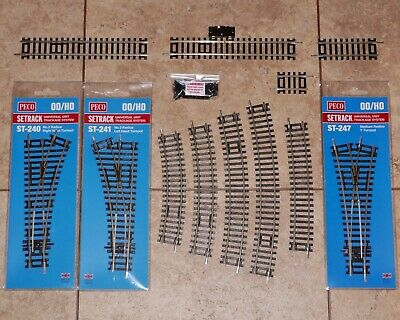 Peco Setrack 00 Gauge Code 100 Turnouts Points Straights Curves Track Pins • 14.95£