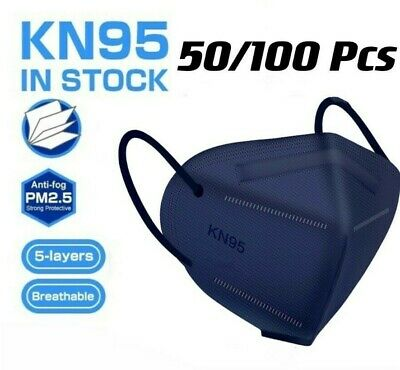 $24.99 • Buy 50/100 Pcs Blue KN95 Protective 5 Layer Face Mask BFE 95% Disposable Respirator