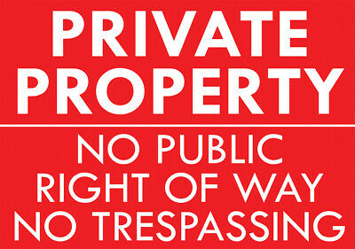 £5.99 • Buy  Private Property No Public Access  Metal Sign No Right Of Way Trespassing Sign