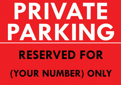 £3.99 • Buy  Private Parking - Reserved For Number  Metal Sign Personalised Parking Sign
