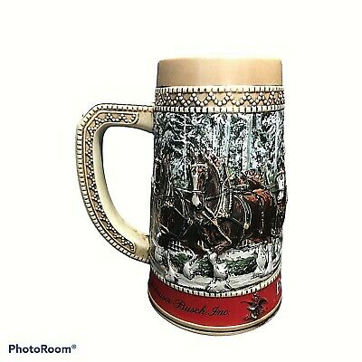 $ CDN28.76 • Buy 1987 Budweiser Clydesdale Collector Holiday Beer Stein  C  Series Anheuser Busch