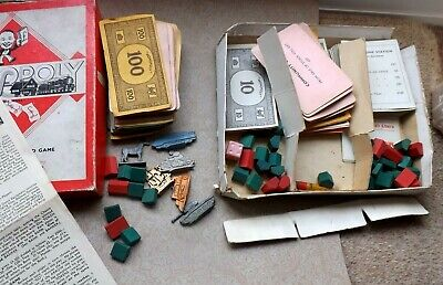 £14.95 • Buy Old Monopoly Charms Money Cards Boxed Vintage Metal No Board