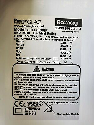 £120 • Buy ROMAG Polycrystalline Solar Panels 250W - More Available - New