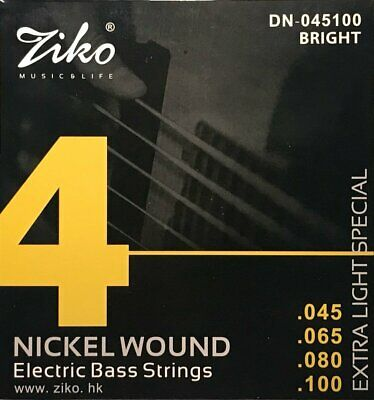 $ CDN9.48 • Buy 1 Set Of Ziko DN-045 045-100 Bass Electric Guitar Strings FREE UK SHIPPING