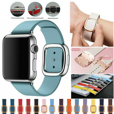 AU34.99 • Buy Retro Magnetic Leather Closure Wrist Band Strap For Apple Watch IWatch 38 42mm