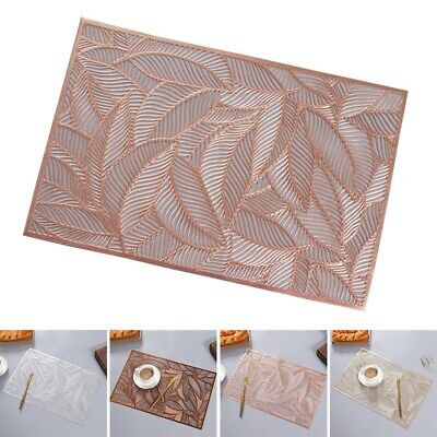 AU13.92 • Buy Set Of 1 PVC Place Mats And Coasters Dining Table Placemats Non-Slip Washable