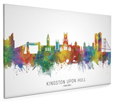 £17.99 • Buy Kingston Upon Hull Skyline, Poster, Canvas Or Framed Print, Painting 8892