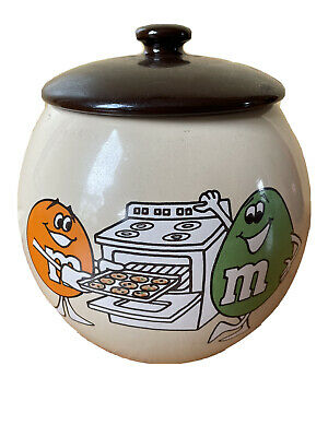 $175 • Buy M&M's MARS Vintage Collectors 1982 First Cookie Jar With Lid RARE