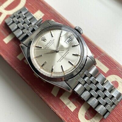 $ CDN6923.66 • Buy Vintage Rolex Datejust 1600 Automatic Silver Dial Alpha Hands Smooth Bezel Watch