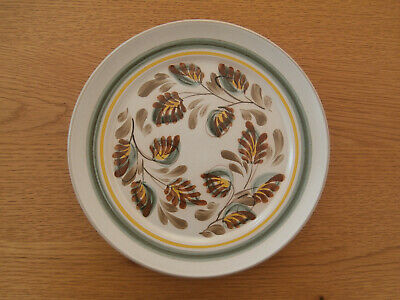 £9.95 • Buy Denby Stoneware By Glyn Colledge 'glyn Ware' Leaves Design Dinner Plate Unmarked