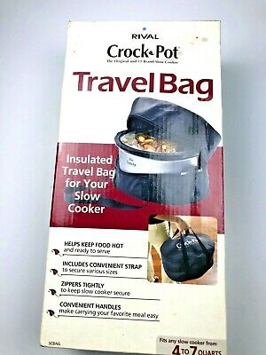 $ CDN16.28 • Buy Rival Crock Pot Insulated Travel Bag Fits 4 To 7 Quart Slow Cooker (2007) NEW