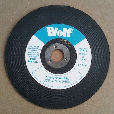 Wolf High Quality Metal Cutting Discs 180mm X 3mm X 22mm • 2.50£
