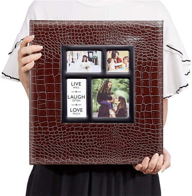 £31.99 • Buy ✈️EXPRS DEL✈️ Extra Large Leather Photo Album 1000 Pockets 6x4 Photos Brown