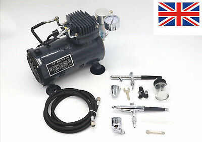 £84.90 • Buy Airbrush With Compressor - Double Action Air Brush Spray Gun AS18 Kit Paint UK