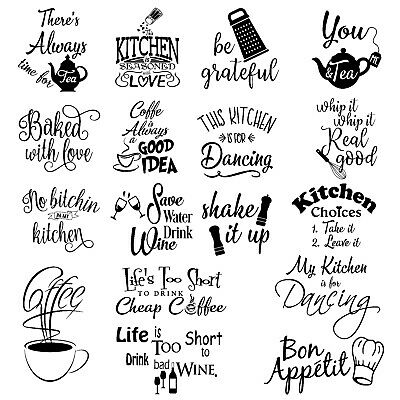 £4.69 • Buy Wall Art Stickers For Kitchen, Removable Home Decor Quality DIY Decal Quotes 158