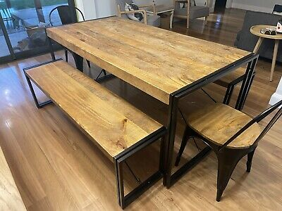 AU300 • Buy Timber Dining Suite With Bench Seats