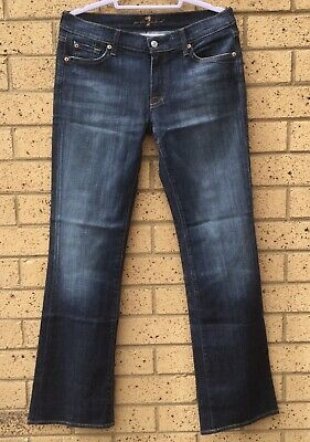 AU34.99 • Buy 7 For All Mankind Womens Jeans Sz 31 Bootcut Dark Blue Low Rise 5 Pockets USA