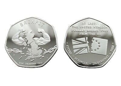 £8.49 • Buy BREXIT Silver Plated Commemorative Coin, UK Breaks Free From EU 2021 - Europe