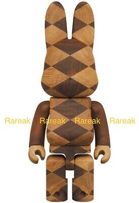 $1399.99 • Buy Medicom Be@rbrick Rabbrick 2021 Woven Wood 400% Wooden Bearbrick R@bbrick