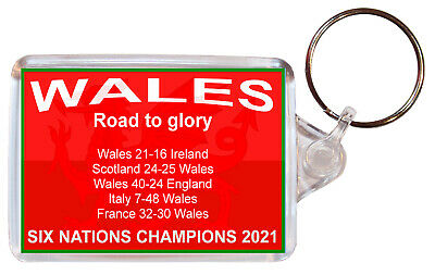 £2.15 • Buy Wales Six Nations Champions 2021 - Keyring Gift Souvenir Rugby Present
