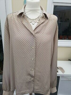 Ladies Size 18 Spring Summer Long Sleeved Top Dinner Party Work Blouse • 3.99£