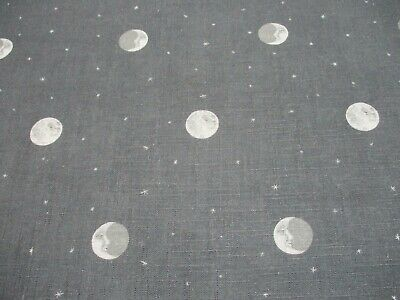 £57.50 • Buy Andrew Martin Curtain Fabric 'OVER THE MOON - CHARCOAL GREY' 2.1 METRES KIT KEMP